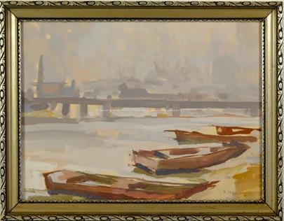 Karel Holan - Loďky na řece