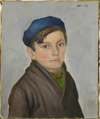 Jan Havlík - Portrét chlapce v čepici
