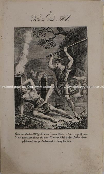 Německo 19. století - Konvolut 62 biblických výjevů Starý a Nový zákon