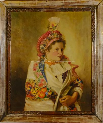 Vojtěch  Pernica - Portrét krojované dívky