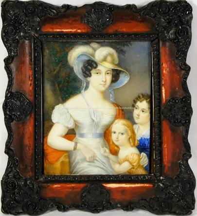 Signováno nečitelně - Rodinný portrét