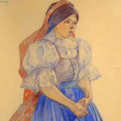 Vincent Plesnivý - Dívka v kroji