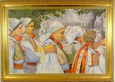 Vilém Topinka - Průvod krojovaných