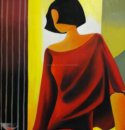 Robert Jiran - Dívka v červených šatech
