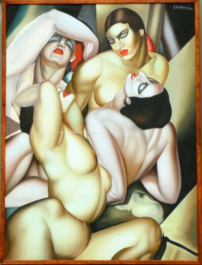 podle Tamara De Lempicka - Group of 4 Nudes - VELKÝ FORMÁT