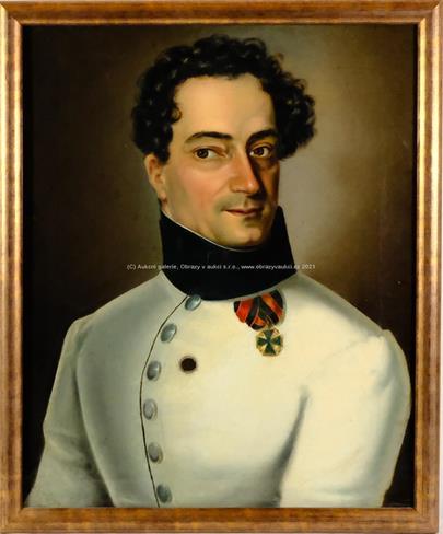 středoevropský malíř kolem pol. 19. stol. - Portrét důstojníka