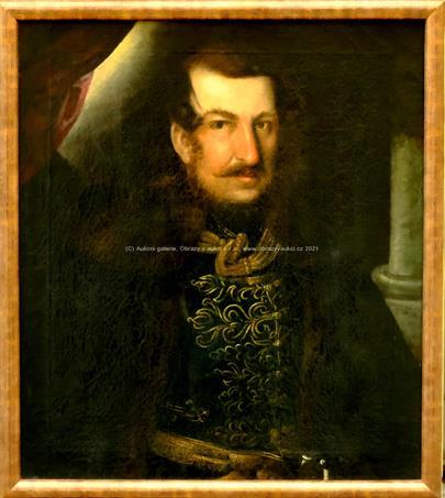 středoevropský malíř kolem poloviny 19. stol. - Portrét šlechtice