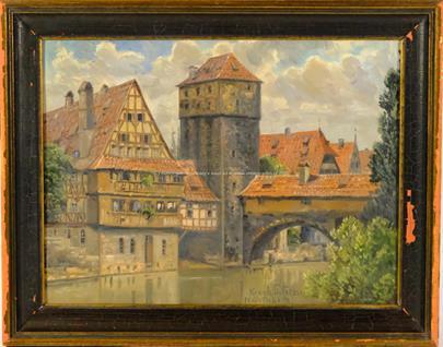 středoevropský malíř 1. pol. 20. stol. - Motiv z Norimberku