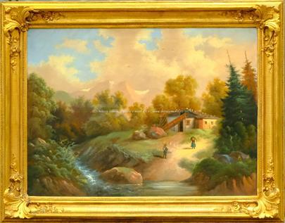 středoevropský malíř 2. pol. 19. stol. - Samota v horách