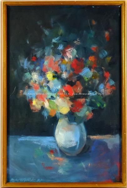 Marian Komáček - Zátiší s květinou