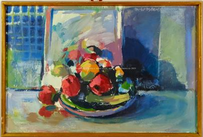 Marian Komáček - Zátiší s ovocem