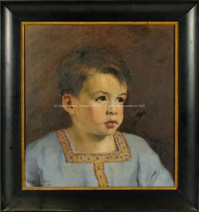 Luitpold Adam - Dětský portrét