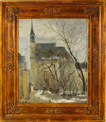 Karel Holan - Předjaří u kostela