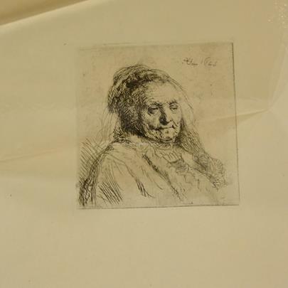 Rembrandt van Rijn - Soubor 2 podobizen: Vlastní podobizna v baretu a Podobizna Rembrandtovy matky
