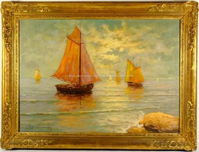Josef M. Černovický - Lodě na moři