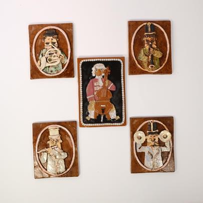 Černý Václav - Konvolut 9 keramik - Hudebníci