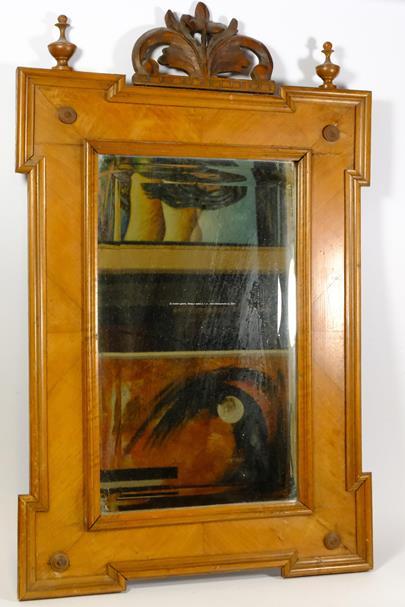Čechy před rokem 1900 - Zrcadlo ve dřevěném rámu