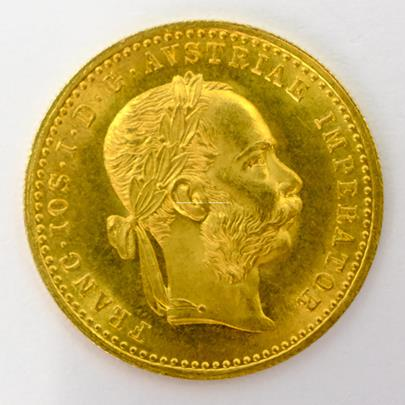 .. - Rakousko Uhersko zlatý 1 dukát 1914. Zlato 986/1000, hrubá hmotnost mince 3,491g