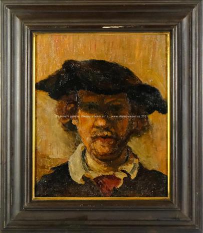 nesignováno - Portrét podle Rembrandta