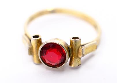 .. - Prsten, stříbro 900/1000, značeno platnou puncovní značkou S-67, hrubá hmotnost 1,77 g