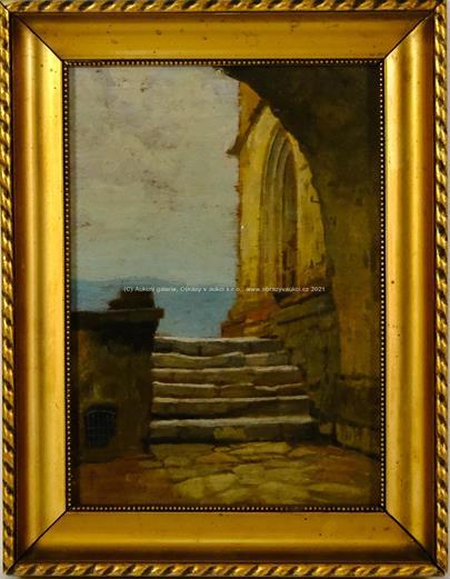 středoevropský malíř přelomu 19. a 20. stol. - Přímořské podloubí
