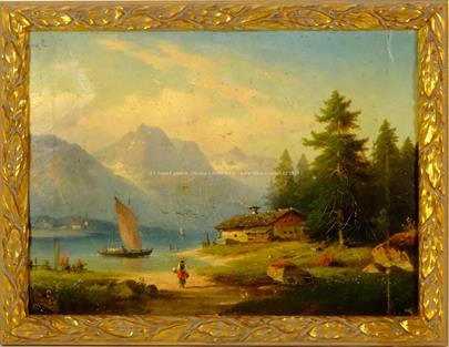 středoevropský malíř 2. pol. 19. stol. - Život u jezera