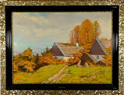 Otakar Hůrka - Podzim u chalupy