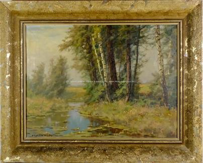 Otakar Hůrka - Stromy u vody