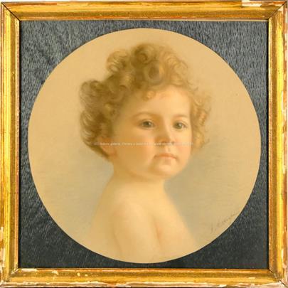 signováno nečitelně - Portrét dítěte