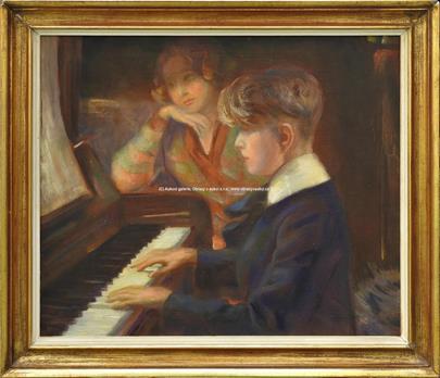 Josef Multrus - U klavíru