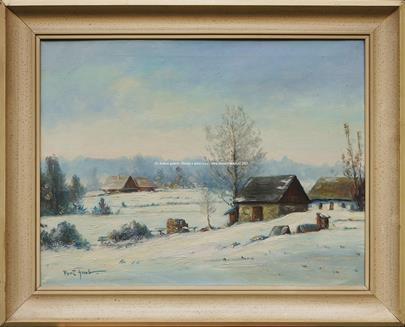 Gustav Porš - Chalupy v zimě