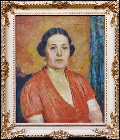 Ludvík Kuba - Portrét ženy