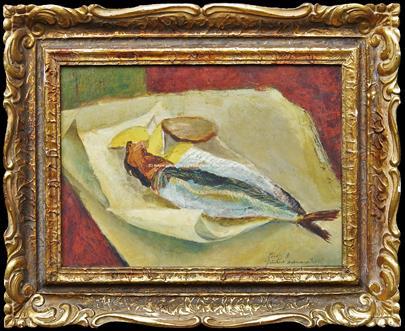 František Tichý - Zátiší s rybou