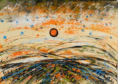 František Blažíček - Západ slunce na Východě