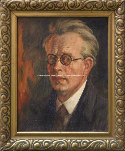 František Šimon Tavík - Autoportrét