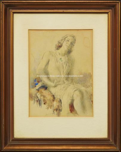 Josef  Loukota - Portrét ženy