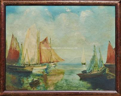 Cyril Bouda - Lodě v přístavu