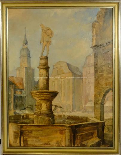 A. Wein - Kašna na náměstí