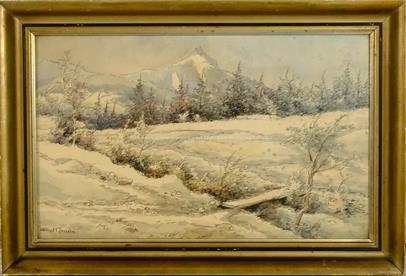 Karel Toman - Horská krajina pod sněhem