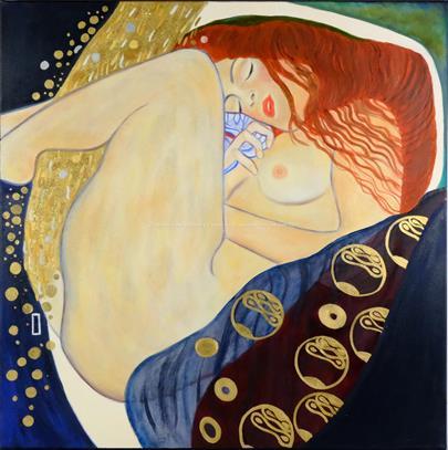 podle Gustava Klimta - Danae