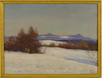 signováno nečitelně - Zimní krajina