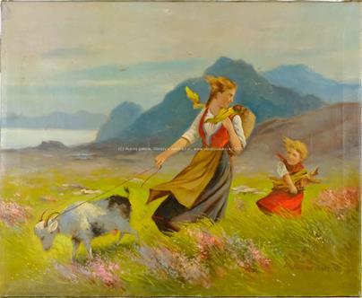 Alois Procházka - Pastva na pobřeží