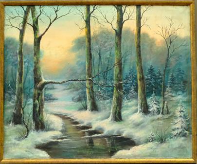 K. Lorenc - Lesní říčka v zimě