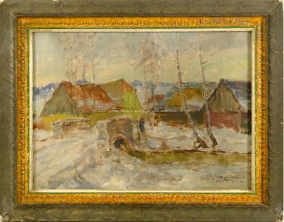 Karel Jan Sigmund - Zima na vesnici