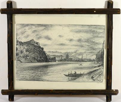 Vincenc Beneš - Rozlehlá krajina s řekou