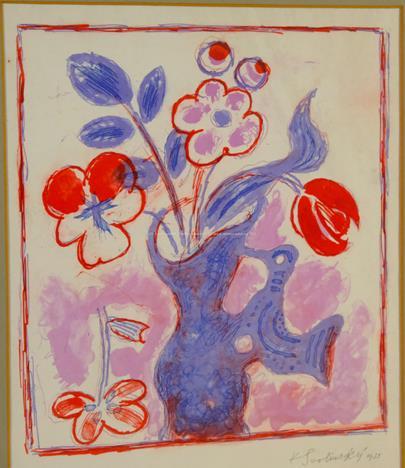 Karel Svolinský - Květiny ve váze