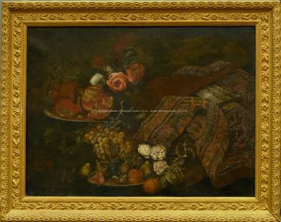 středoevropský malíř přelomu 18-19. století - Honosné zátiší