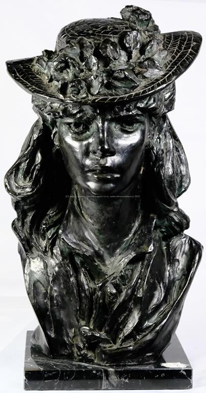 Auguste Rodin - Mladá dívka s květinovým kloboukem