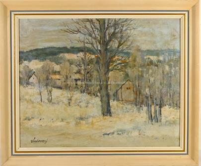 František Sadovský - Zasněžená vesnička