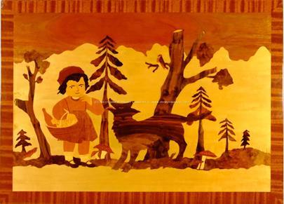 nesignováno - Červená Karkulka s vlkem